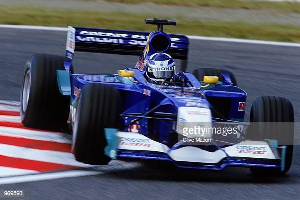Sauber driver Kimi Raikkonen of Finland in action during the Formula One Japanese Grand Prix held at the Suzuka Circuit in Suzuka Japan Mandatory...
