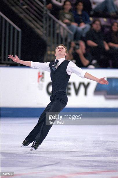 Timothy Goebel of the USA performs his routine during his routine at the Smart Ones Skate America at the World Arena in Colorado Springs...
