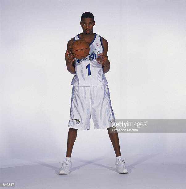 Tracy McGrady of the Orlando Magic poses for a studio portrait on Media Day in Orlando Florida NOTE TO USER It is expressly understood that the only...
