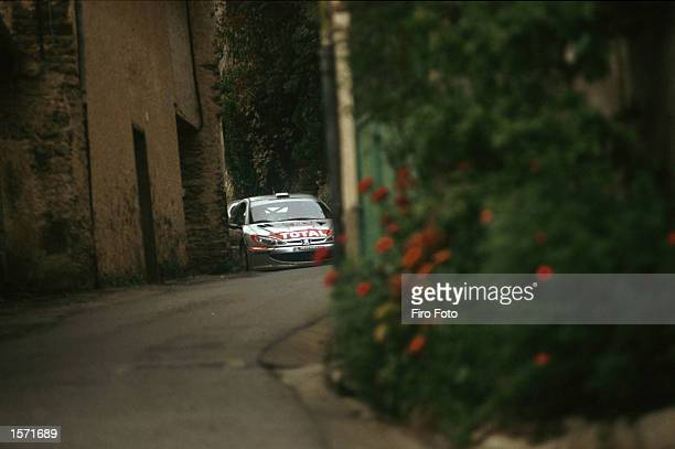 Travaglia driving the Ford Focus during the San Remo Rally in Italy part of the World Rally championship 2001 DIGITAL IMAGE Mandatory Credit Firo...