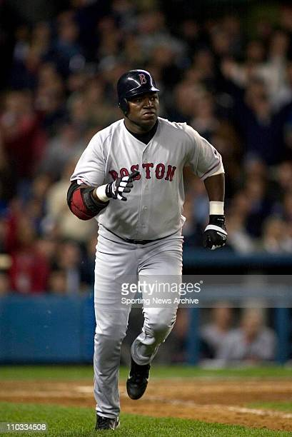 David Ortiz of the Boston Red Sox during the Sox's 65 loss to the New York Yankees in game 7 of the ALCS at Yankee Stadium in New York NY