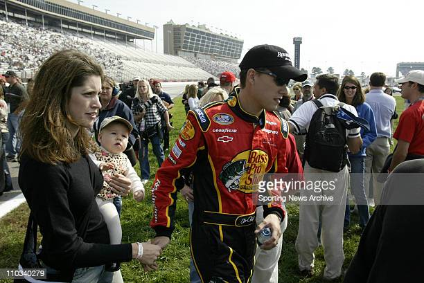 Hank Parker Jr and family prior to the Busch race Aaron's 312 at the Atlanta Motor Speedway Oct 25 in Atlanta GA