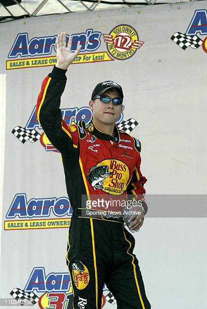 Hank Parker Jr during introductions prior to the Busch race Aaron's 312 at the Atlanta Motor Speedway Oct 25 in Atlanta GA