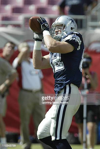 Jason Witten of the Dallas Cowboys during the Cowboys 160 loss to the Tampa Bay Buccaneers at Raymond James Stadium in Tampa FL