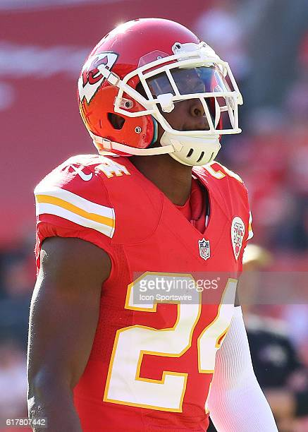 Kansas City Chiefs cornerback D.J. White before a week 7 NFL game between the New Orleans Saints and Kansas City Chiefs at Arrowhead Stadium in...