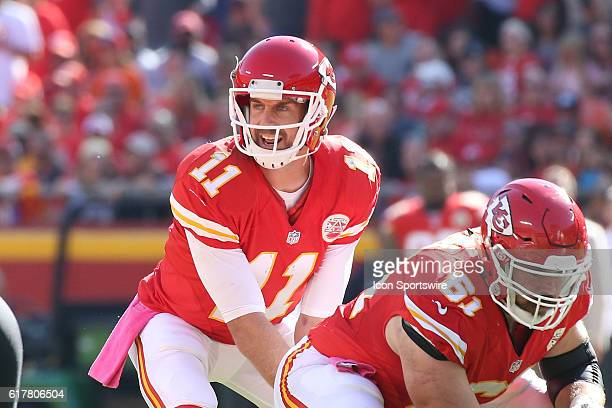 Kansas City Chiefs quarterback Alex Smith before the snap in the third quarter of a week 7 NFL game between the New Orleans Saints and Kansas City...