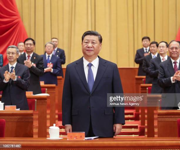BEIJING Oct 22 2018 Chinese President Xi Jinping also general secretary of the Communist Party of China Central Committee and chairman of the Central...