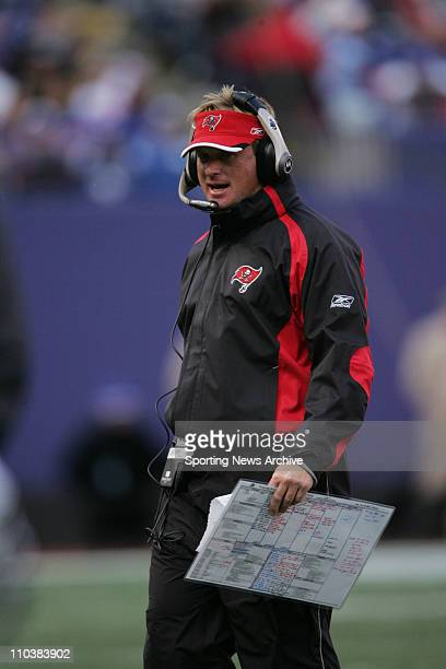 Oct 29 2006 East Rutherford NJ USA Tampa Bay Buccaneers head coach JON GRUDEN during the game against the New York Giants at Giants Stadium The...