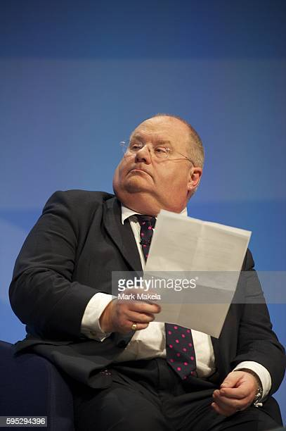 Oct 3 2011 Manchester England UK Secretary of State for Communities and Local Government ERIC PICKLES takes part in a panel discussion during the...