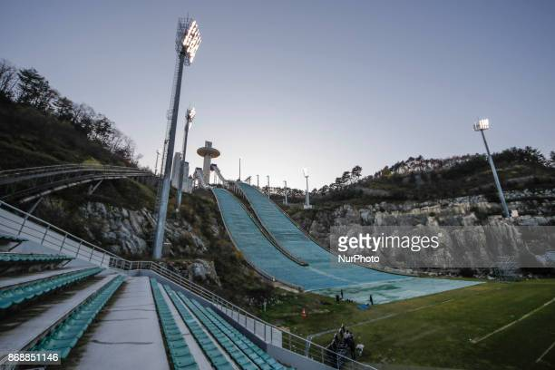 Oct 30 2017Pyeongchang South KoreaA Shows Alpensia Ski Jumping Centre in Pyeongchang South Korea The facility will be used for ski jumping Nordic...