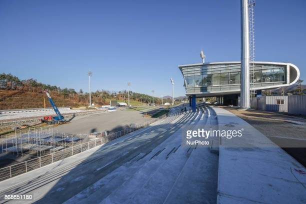 Oct 30 2017Pyeongchang South KoreaA Shows Construction continues at the Alpensia Biathlon Skiing Centre venue for Cross County and Nordic Combined...