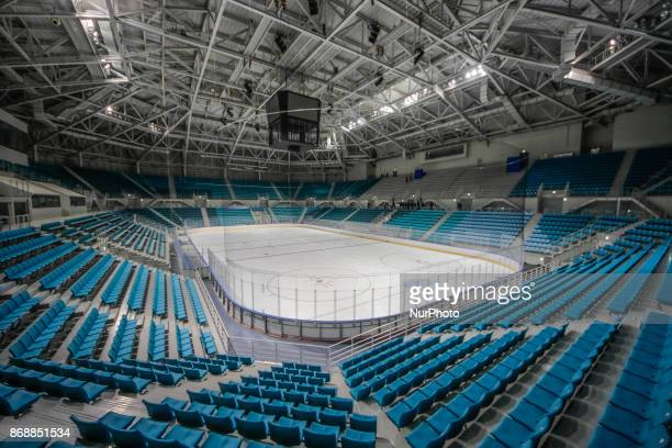 Oct 30 2017Pyeongchang South KoreaA Shows Gangneung Hockey Centre in Gangneung South Korea The facility will be used for ice hockey in the...
