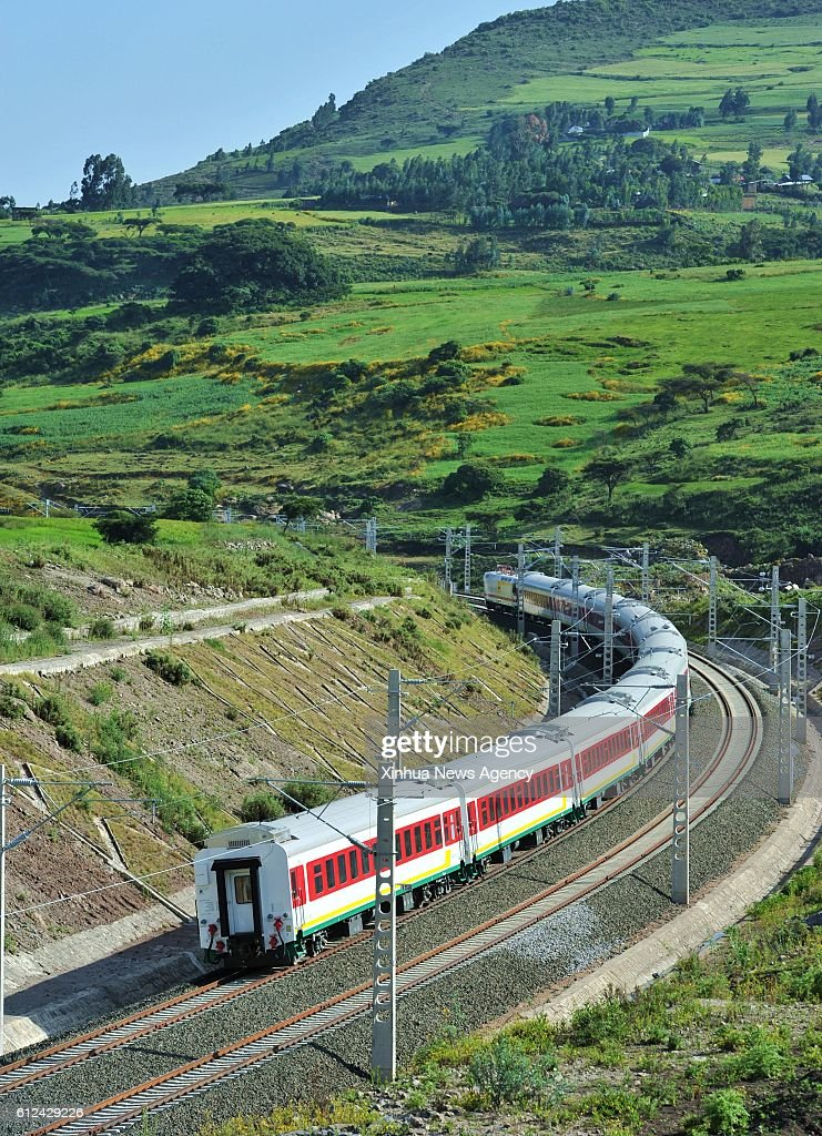 ABABA, Oct  4, 2016 -- A train runs on the Ethiopia-Djibouti