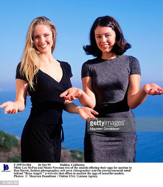 Oct 99 Malibu California Misty Lee Mcfen And Nicole Newman Two Of The Models Offering Their Eggs For Auction By Ron Harris Fashion