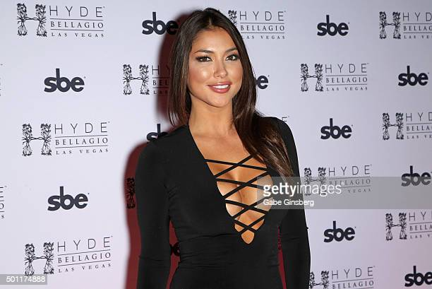 Octagon Girl and model Arianny Celeste attends a UFC 194 after party at Hyde Bellagio at the Bellagio on December 12 2015 in Las Vegas Nevada