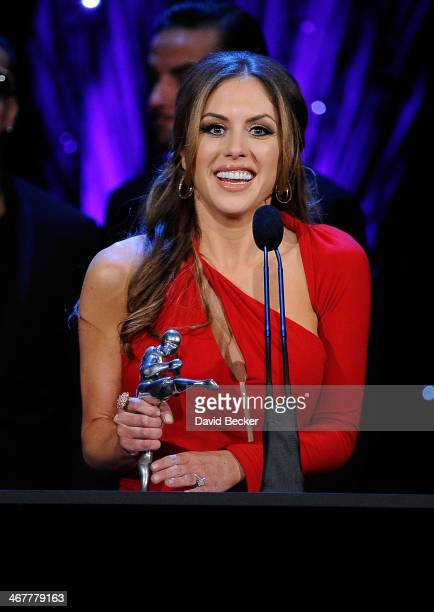 Octagon Girl and model Brittney Palmer accepts her Ringcard Girl of the Year award at the sixth annual Fighters Only World Mixed Martial Arts Awards...