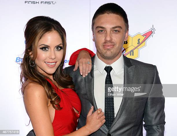 Octagon Girl and model Brittney Palmer and her fiance Aaron Zalewski arrive at the sixth annual Fighters Only World Mixed Martial Arts Awards at The...