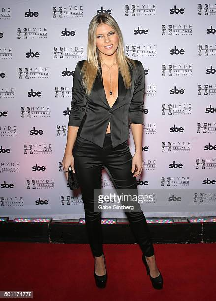 Octagon Girl and model Chrissy Blair attends a UFC 194 after party at Hyde Bellagio at the Bellagio on December 12 2015 in Las Vegas Nevada