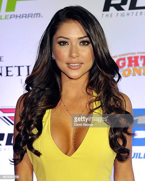 Octagon girl Arianny Celeste arrives at the seventh annual Fighters Only World Mixed Martial Arts Awards at The Palazzo Las Vegas on January 30 2015...