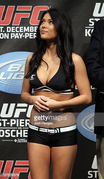 Octagon Girl Arianny Celeste at the UFC 124 Weigh-in at the Bell Centre on December 10, 2010 in Montreal, Quebec, Canada.