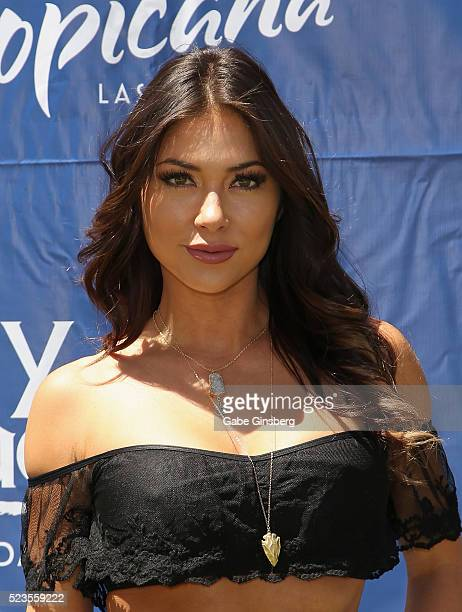 Octagon Girl Arianny Celeste attends a fight weekend pool party at Sky Beach Club at the Tropicana Las Vegas on April 23 2016 in Las Vegas Nevada