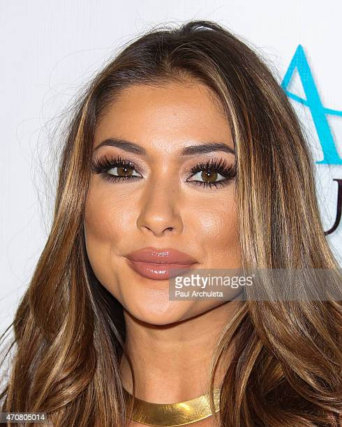 Octagon Girl Arianny Celeste attends the Babes In Toyland charity toy drive at Boulevard3 on April 22 2015 in Hollywood California