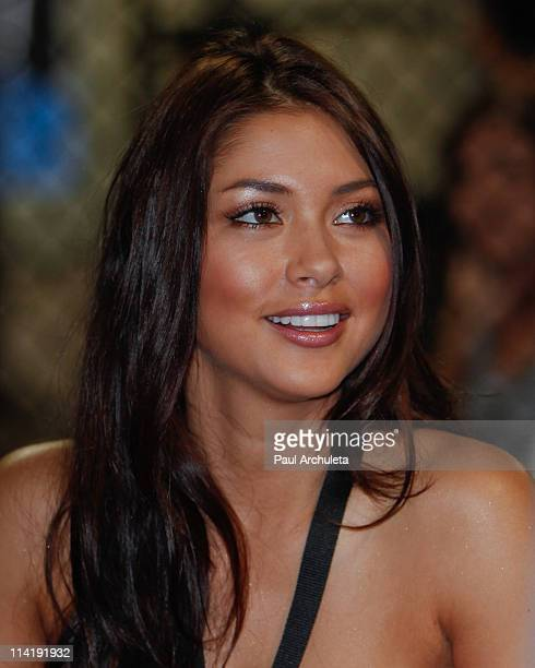 Octagon Girl Arianny Celeste attends the UFC Gym grand opening celebration at UFC Gym on May 14 2011 in Corona California