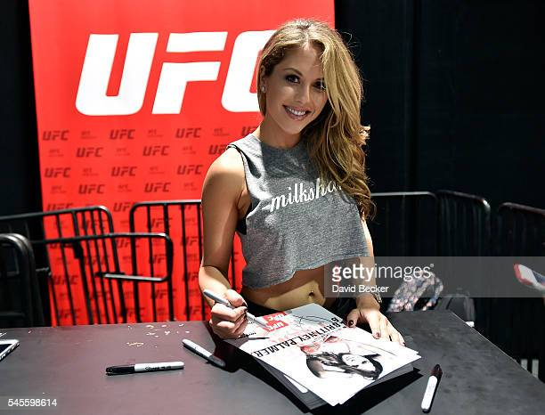 Octagon Girl Brittney Palmer attends the UFC Fan Expo at the Las Vegas Convention Center on July 8 2016 in Las Vegas Nevada