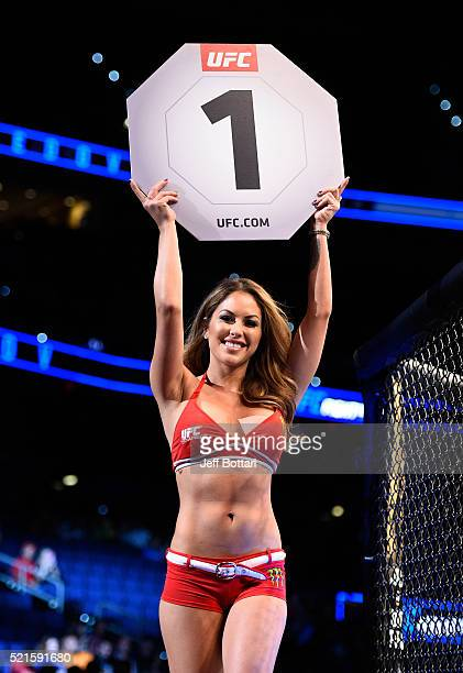 Octagon Girl Brittney Palmer introduces the roundduring the UFC Fight Night event at Amalie Arena on April 16 2016 in Tampa Florida