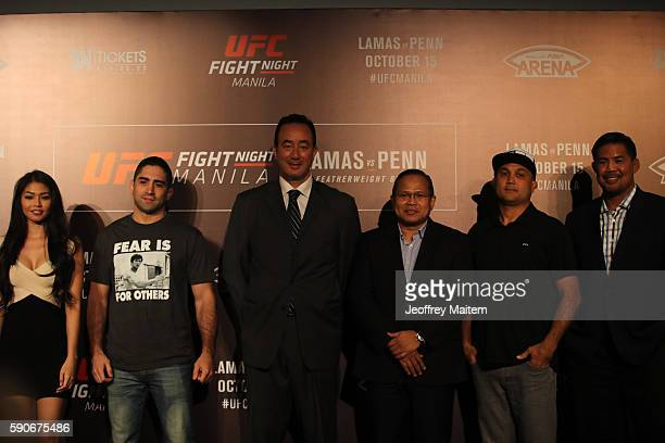 Octagon Girl Red Dela Cruz Ricardo 'The Bully' Lamas of Chicago USA Kenneth Berger Executive Vice President and General Manager of UFC Asia BJ 'the...