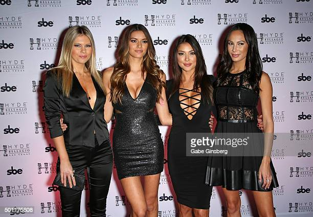 UFC Octagon Girls and models Chrissy Blair Vanessa Hanson Arianny Celeste and television personality/model Kenda Perez attend a UFC 194 after party...