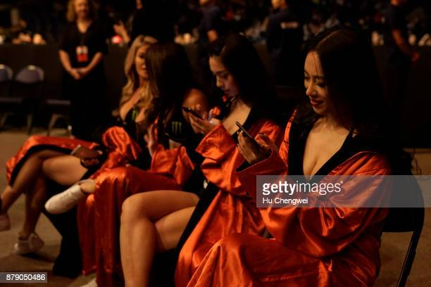 Octagon girls at the UFC Fight Night at MercedesBenz Arena on November 25 2017 in Shanghai China
