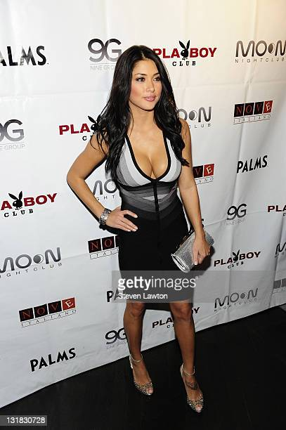 UFC octagon spokesmodel Arianny Celeste arrives to host Ultimate Fighter Finale after party at Moon Nightclub at The Palms Resort Casino on December...