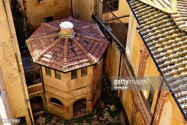 Octagonal building in Siena, Italy