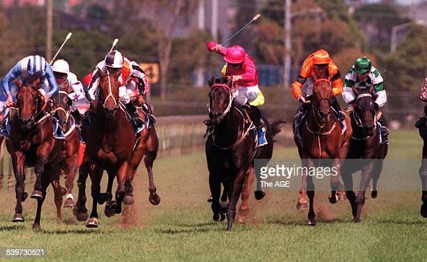 Octagonal heads for victory on 22 March 1997 THE AGE SPORT Picture by TIM CLAYTON