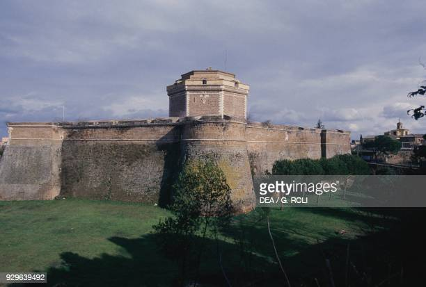 Octagonal keep of Sangallo fortress view of northwest side Civita Castellana Lazio Italy 15th16th century