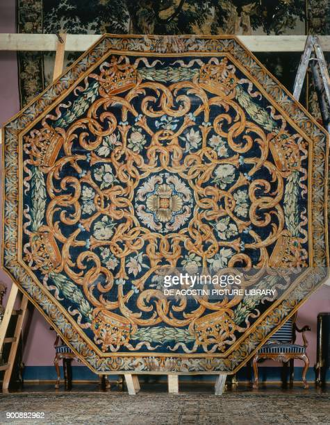 Octagonal savonnerie with floral motifs probably the central medallion of a larger carpet made from a Royal Commission for the Louvre 16601689 France...