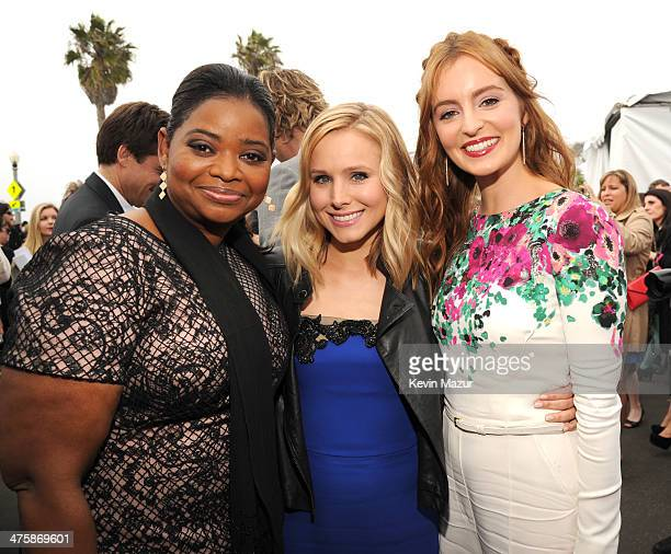Octavia Specer Kristen Bell and Ahna O'Reilly attend the 2014 Film Independent Spirit Awards at Santa Monica Beach on March 1 2014 in Santa Monica...