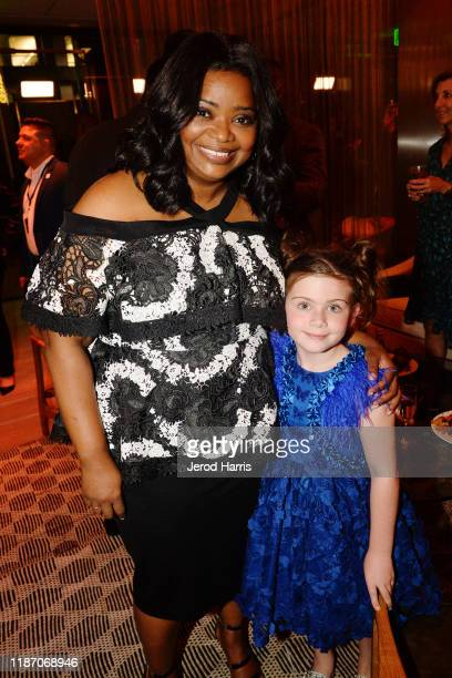 Octavia Spencer and Everleigh McDonell attend the after party of Apple TV's 'Truth Be Told' on November 11 2019 in Beverly Hills California
