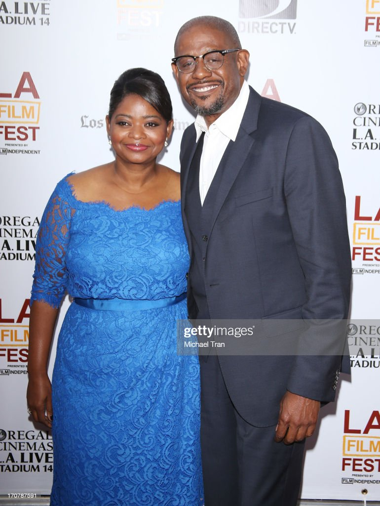 Octavia Spencer (L) and Forest Whitaker arrive at the 2013 Los Angeles Film Festival 'Fruitvale Station' premiere held at Regal Cinemas L.A. LIVE Stadium 14 on June 17, 2013 in Los Angeles, California.