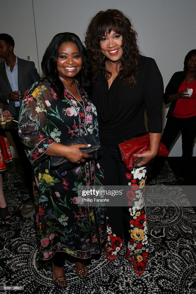 Octavia Spencer and Kym Whitley attend UTA celebrates Anthony Anderson on his Emmy nomination for his work on 'Black-ish' at UTA on August 23, 2017 in Beverly Hills, California.