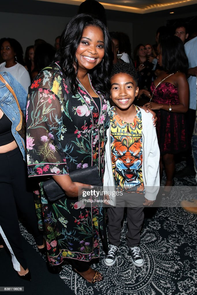 Octavia Spencer and Miles Brown attend UTA celebrates Anthony Anderson on his Emmy nomination for his work on 'Black-ish' at UTA on August 23, 2017 in Beverly Hills, California.