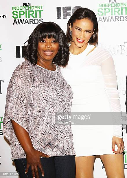 Octavia Spencer and Paula Patton attend the 2014 Film Independent Spirit Awards nominations press conference held at W Hollywood on November 26 2013...