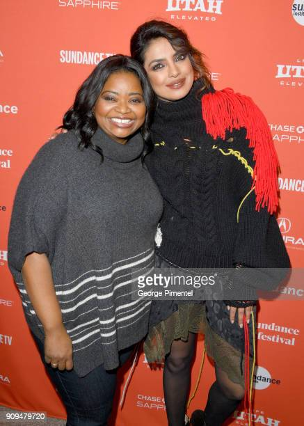Octavia Spencer and Priyanka Chopra attend the A Kid Like Jake' Premiere during the 2018 Sundance Film Festival at Eccles Center Theatre on January...