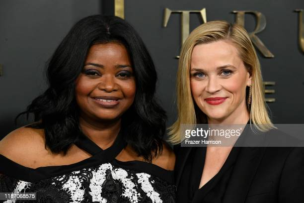 Octavia Spencer and Reese Witherspoon attend the Premiere Of Apple TV's Truth Be Told at AMPAS Samuel Goldwyn Theater on November 11 2019 in Beverly...