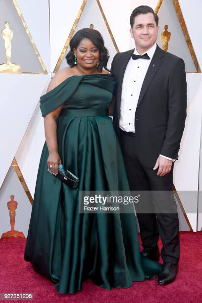 Octavia Spencer and Tate Taylor attend the 90th Annual Academy Awards at Hollywood Highland Center on March 4 2018 in Hollywood California