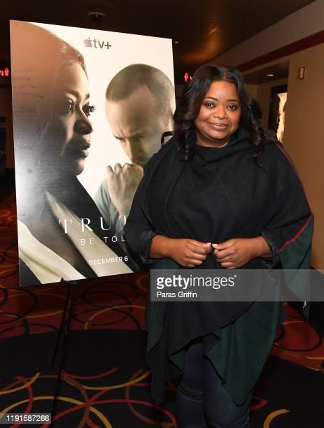 """Octavia Spencer attends Apple TV+'s """"Truth Be Told"""" Atlanta screening at AMC Parkway Pointe on December 02, 2019 in Atlanta, Georgia."""