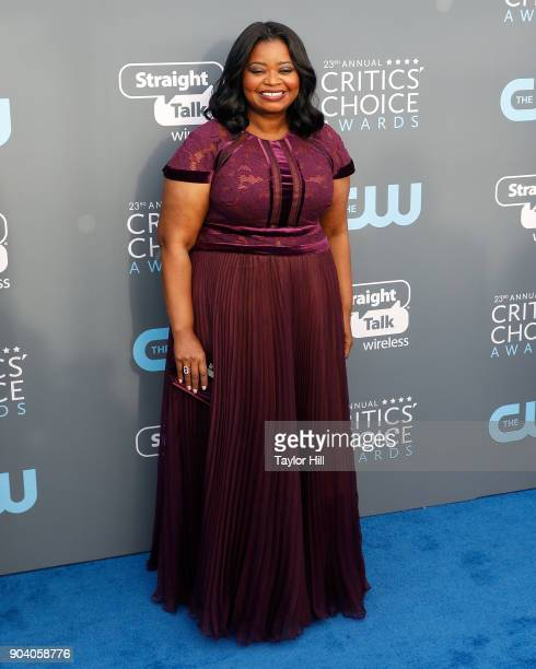Octavia Spencer attends the 23rd Annual Critics' Choice Awards at Barker Hangar on January 11 2018 in Santa Monica California
