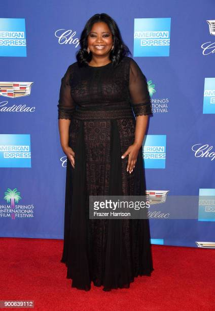 Octavia Spencer attends the 29th Annual Palm Springs International Film Festival Awards Gala at Palm Springs Convention Center on January 2 2018 in...