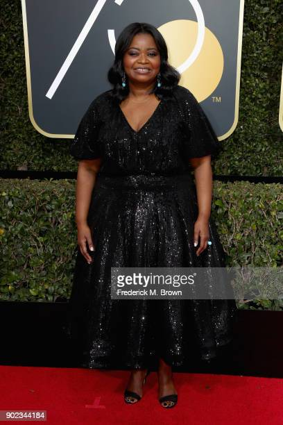 Octavia Spencer attends The 75th Annual Golden Globe Awards at The Beverly Hilton Hotel on January 7 2018 in Beverly Hills California